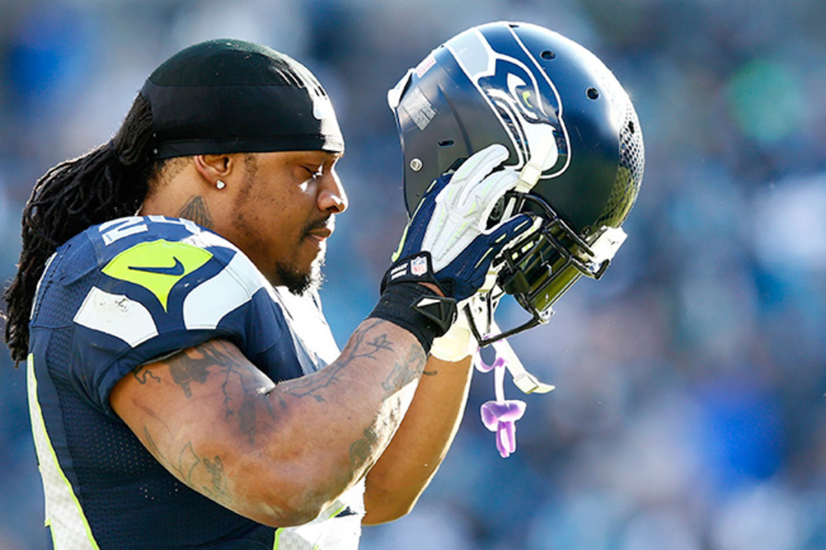 Sunday might have been the final time Marshawn Lynch puts on a Seahawks helmet.