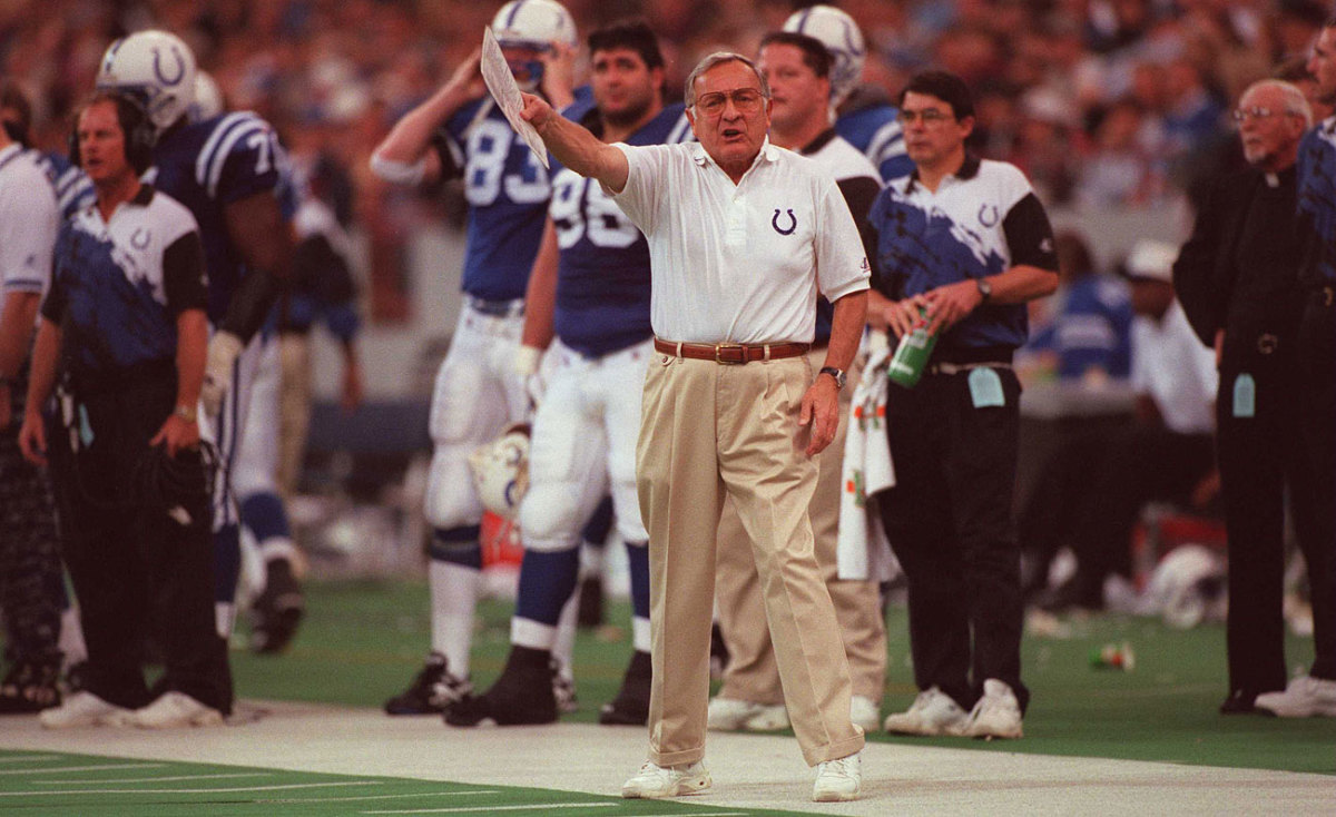 Ted Marchibroda was the first Colts coach to be inducted into the team's ring of honor.