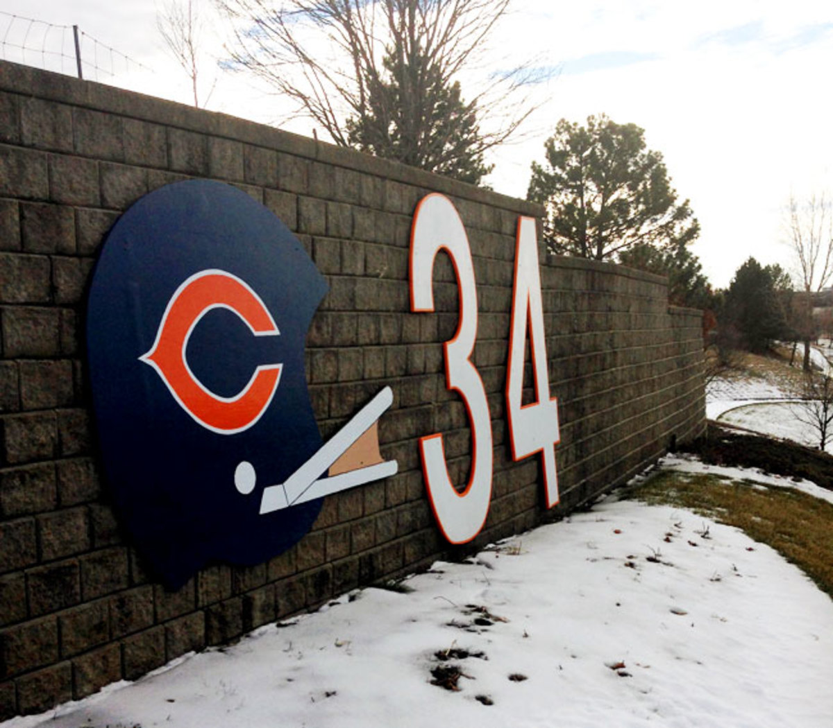 The suburban hill that Walter Payton ran during his legendary workouts now bears his number.