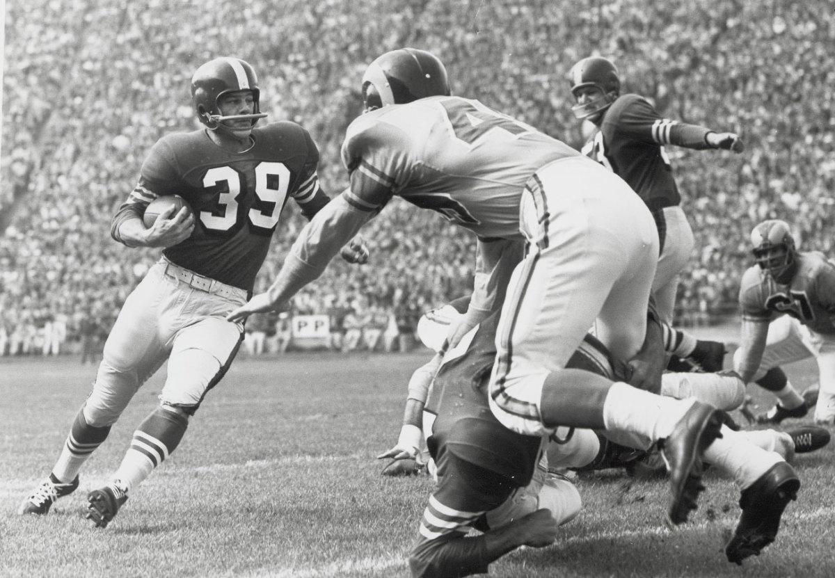Hugh McElhenny, 49ers vs. Rams, 1955.