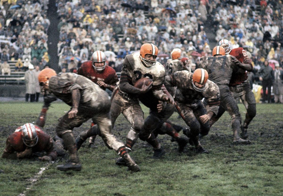 Jim Brown, Browns vs. 49ers, December 1962.