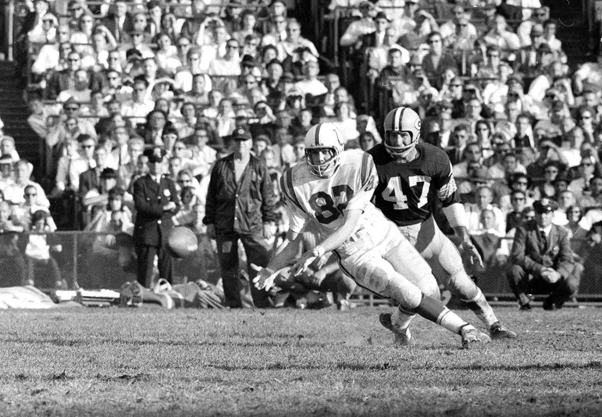 Raymond Berry, Colts vs. Packers, October 1964.