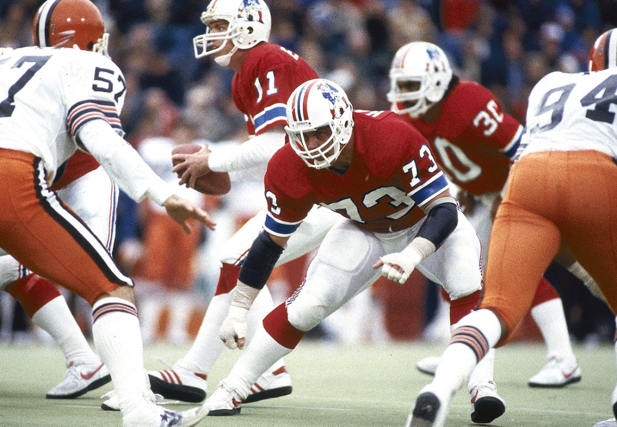 John Hannah, Patriots vs. Browns, November 1983.
