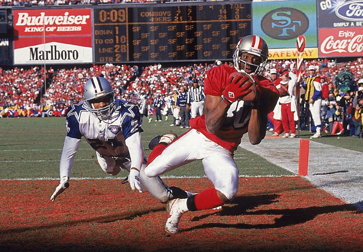 Jerry Rice, 49ers vs. Cowboys, NFC title game, January 1995.