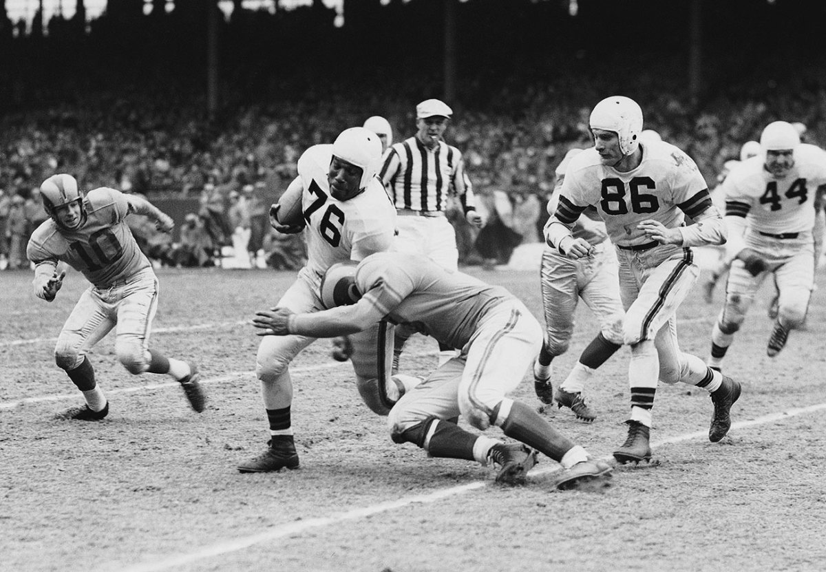 Marion Motley, Browns vs. Rams, NFL title game, December 1950.