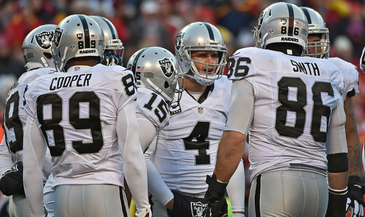 Derek Carr and the Raiders will be battling their body clocks–in addition to their opponents—when they hit the road this season.