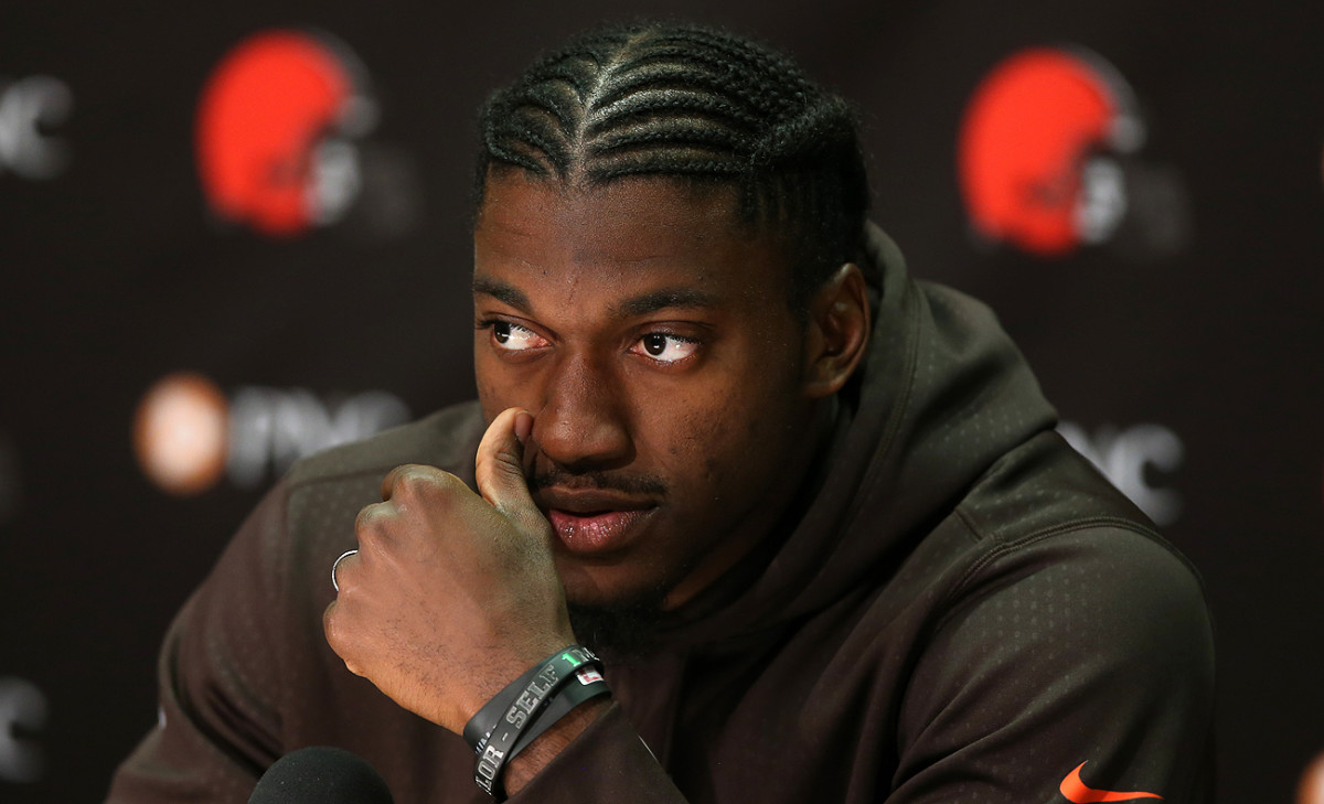 Robert Griffin III is in Cleveland, which might not use the No. 2 pick to select a QB.
