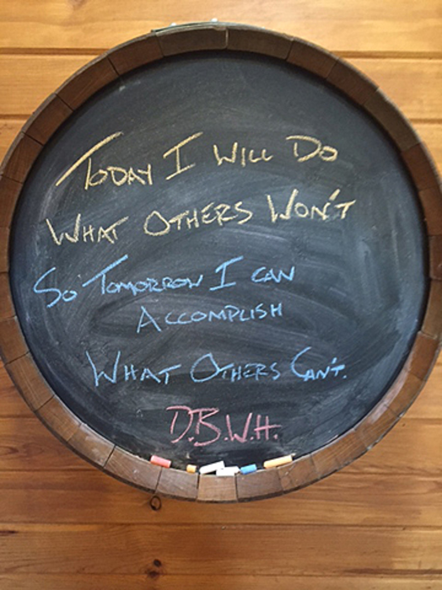 This quote, credited to Jerry Rice, hangs in J.J. Watt's kitchen as motivation.