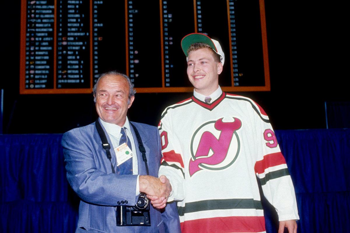 1990-Martin-Brodeur-father-Denis-NHL-Draft.jpg