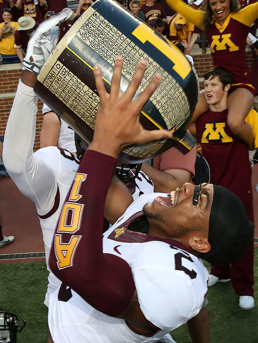 """The Jug isn't even that """"little."""" Michigan-Minnesota has been a one-sided affair over the years, but this trophy remains a college football trademark."""