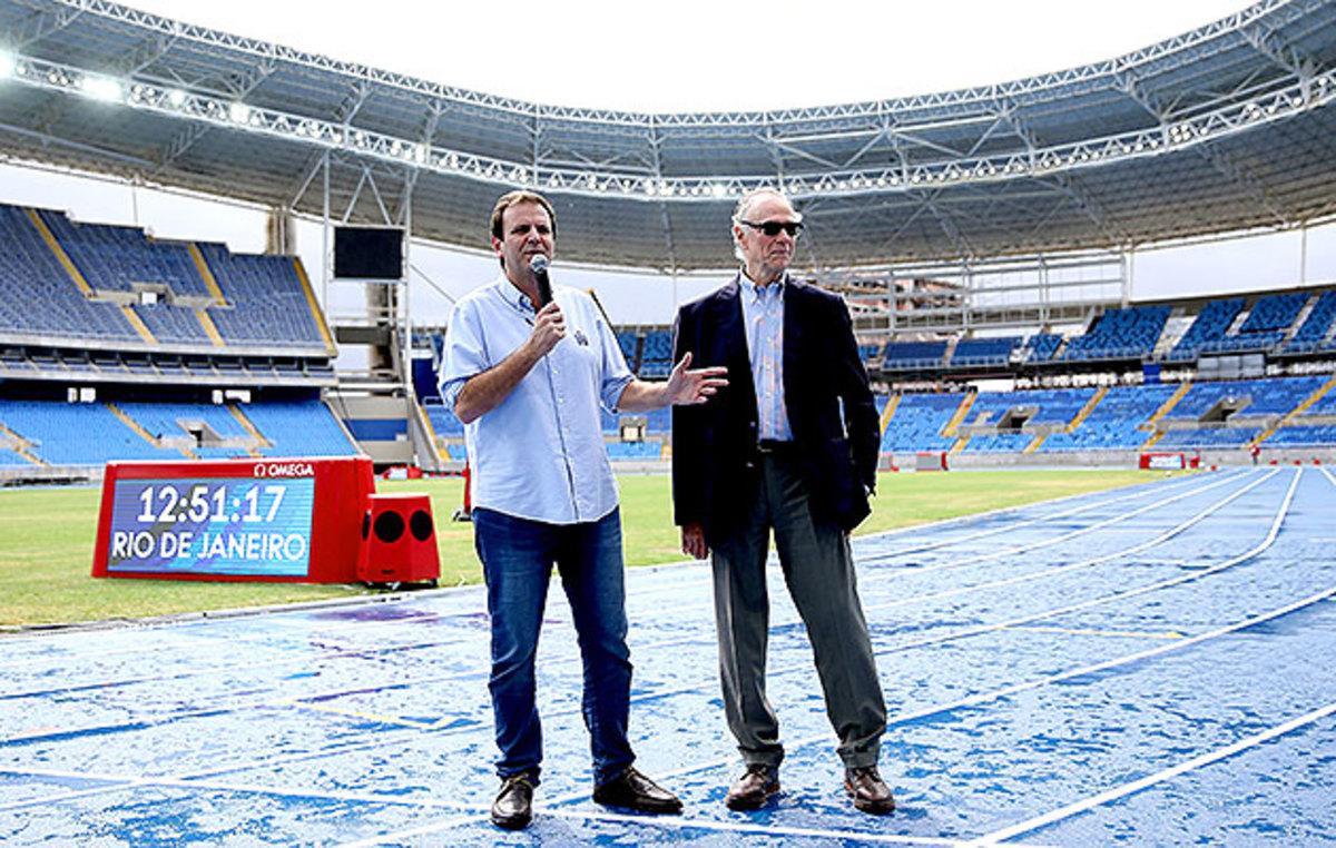 Eduardo Paes, mayor of Rio de Janeiro, and Carlos Arthur Nuzman, president of the Rio 2016 Organizing Committee.