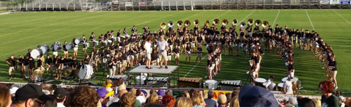 The St. Amant High School marching band