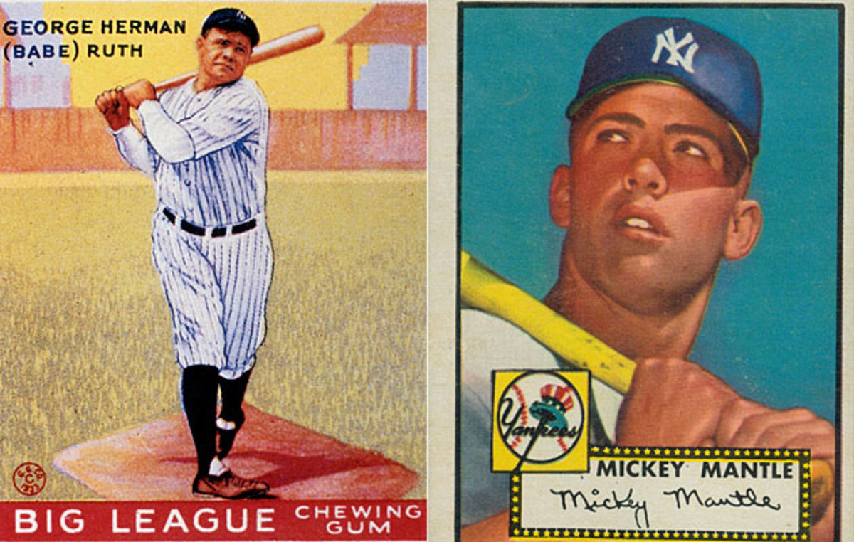 Babe Ruth (left) and Mickey Mantle