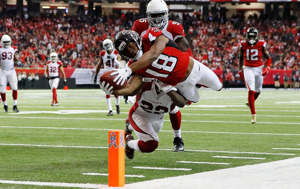 Speedy wideout Taylor Gabriel has helped give the already talented Falcons offense another dimension.