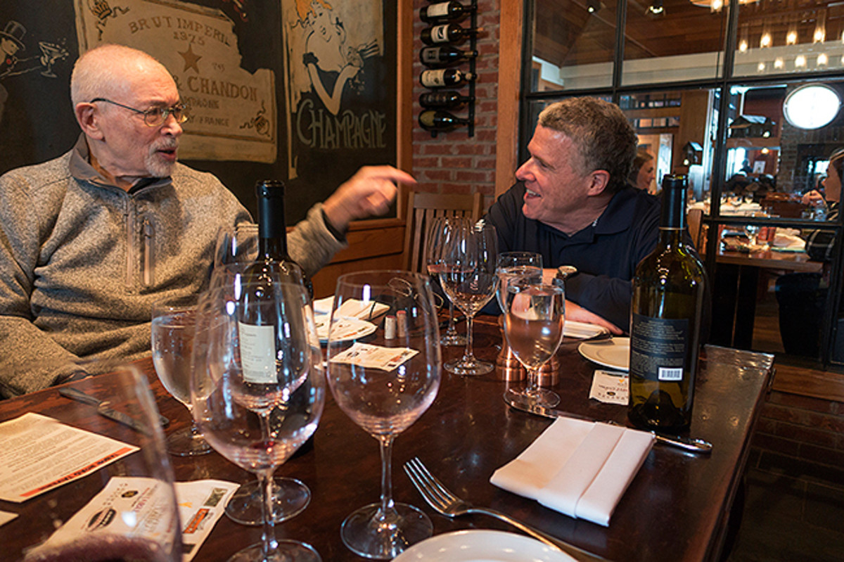 Dr. Z and King, on the topics of football and wine, just like old times.