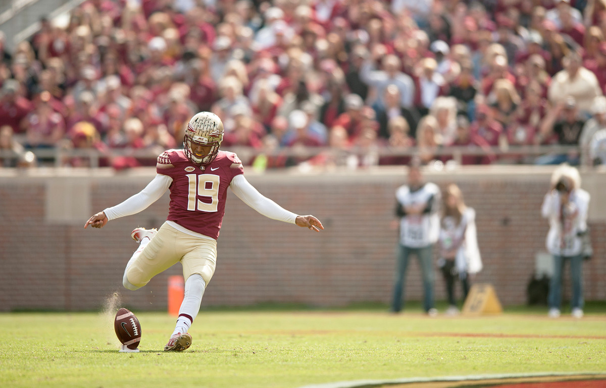Roberto Aguayo is expected to be the first kicker taken in the draft, and he could go as high as the second round.