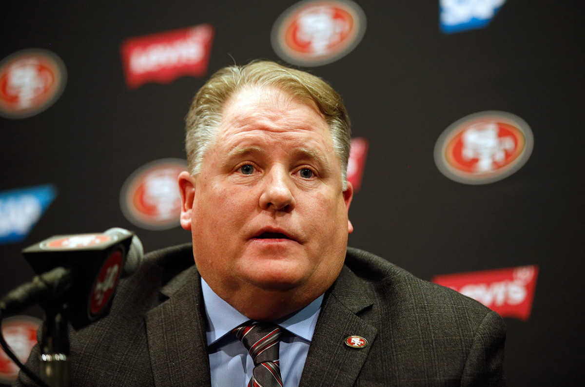 New coach Chip Kelly will hit the field for the first time with his 49ers players this week.