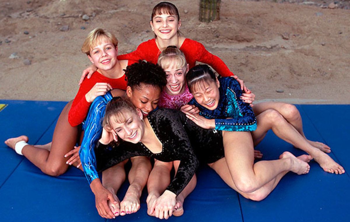 Six of the Magnificent Seven (without Kerri Strug).