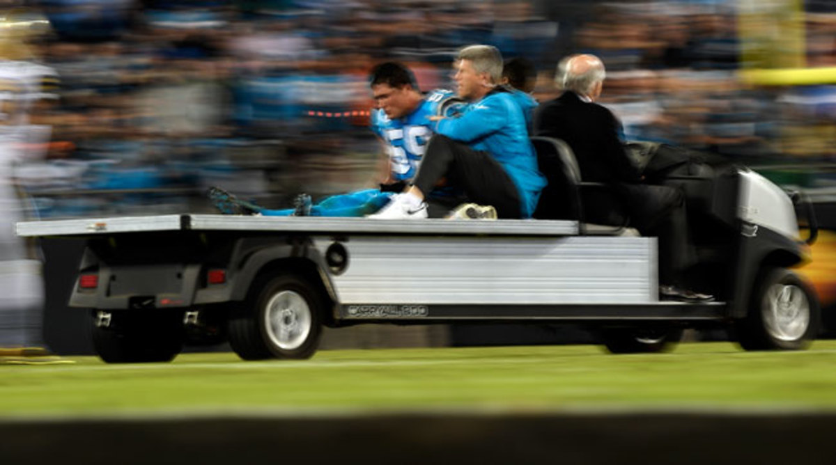 Kuechly is in concussion protocol, with no timetable set for his return.