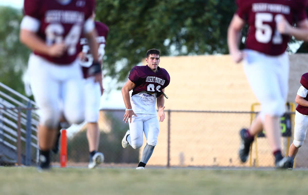Kade set an Arizona state record for receptions but says he won't take advantage of his name for college recruiting.