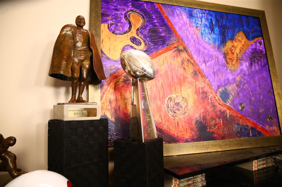 Brenda's artwork and Kurt's hardware adorn their Scottsdale house.