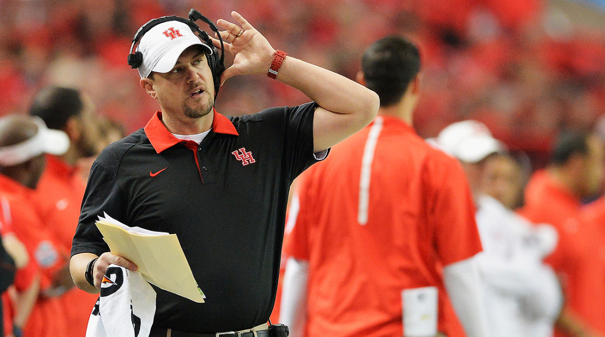 Tom Herman took over as Houston's coach in 2015 and has run off a 14-1 record since.