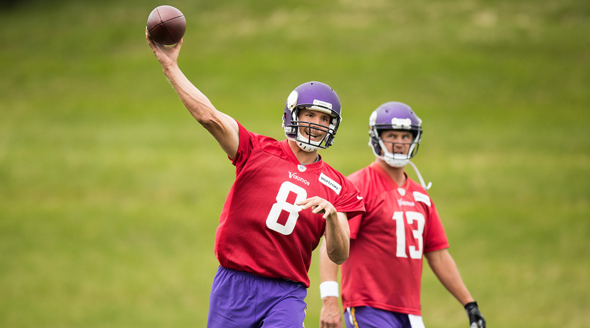 It's been a crash course for Sam Bradford in the days since the Vikings acquired the quarterback in a trade with the Eagles.