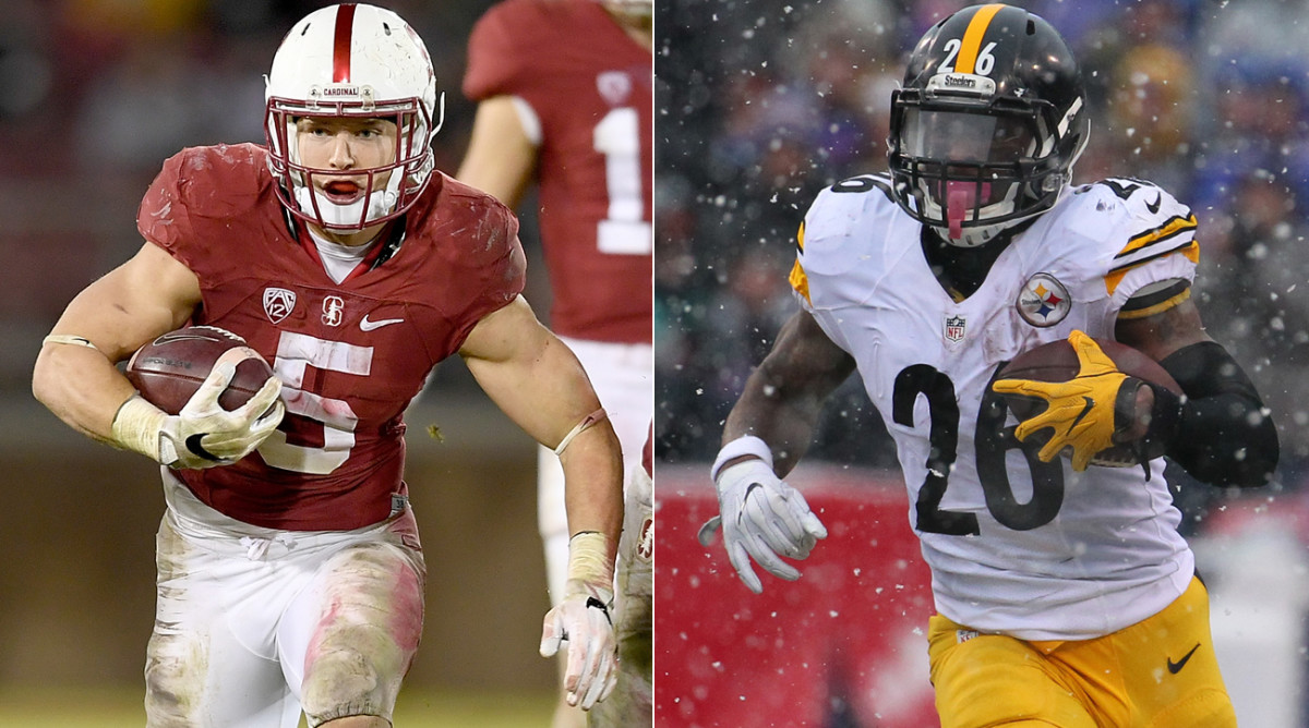 As he prepares to enter the 2017 NFL draft, Stanford's Christian McCaffrey has sought the advice of Steelers running back Le'Veon Bell.