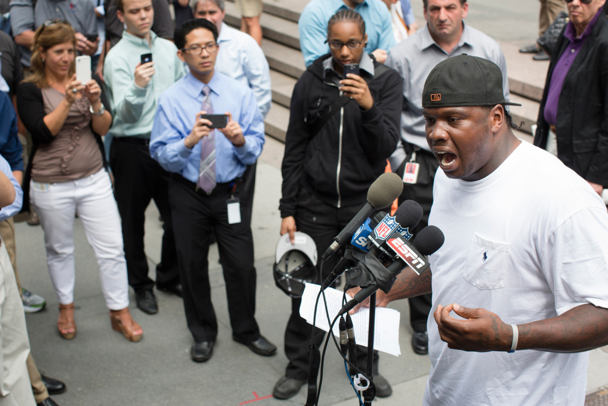 Hargrove spoke his mind to the media after his discipline hearing with Goodell.