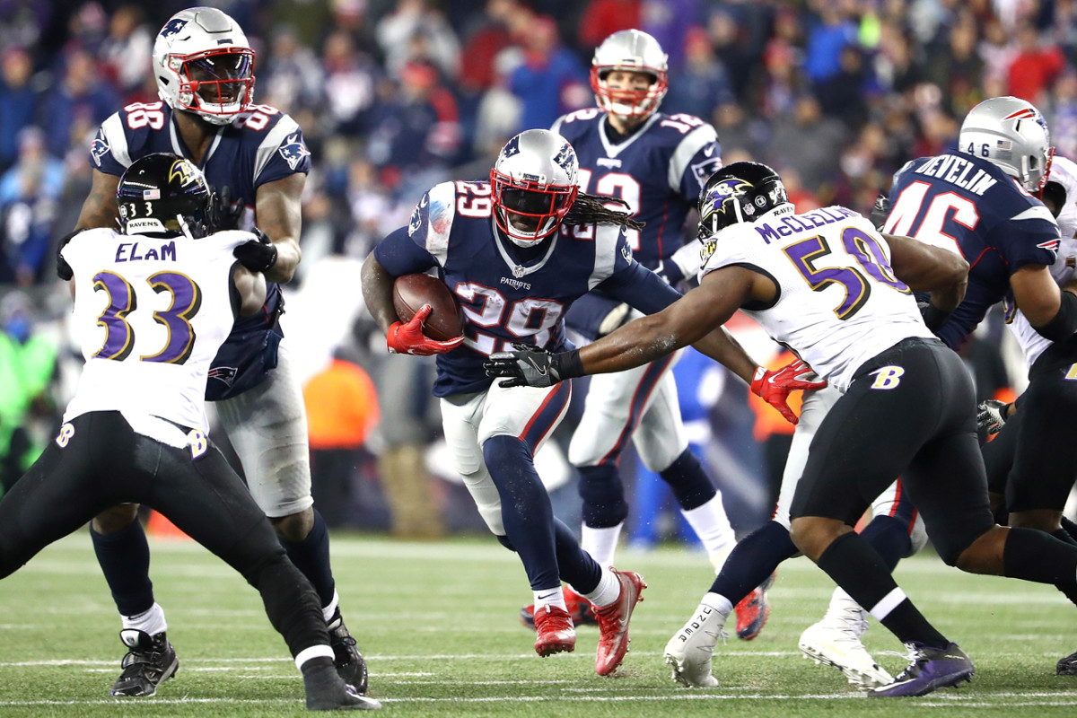 LeGarrette Blount, who ran roughshod over the Ravens, will pose a tough challenge for the Broncos' D.