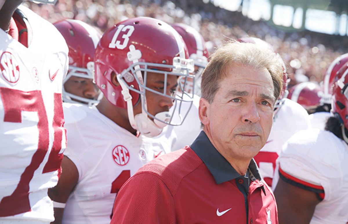 The fall will be Saban's 10th in Tuscaloosa, and the coach insists he's not leaving.