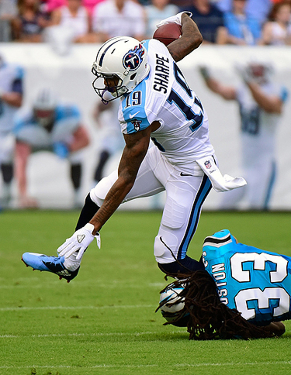 The Titans are high on Tajae Sharpe, a rookie wide receiver out of UMass.
