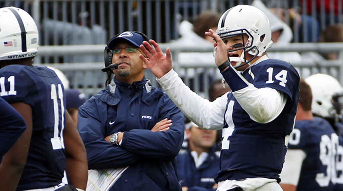 Bowles needed to hear Hackenberg explain his challenges with the coaching change when Franklin (left) took over at Penn State.