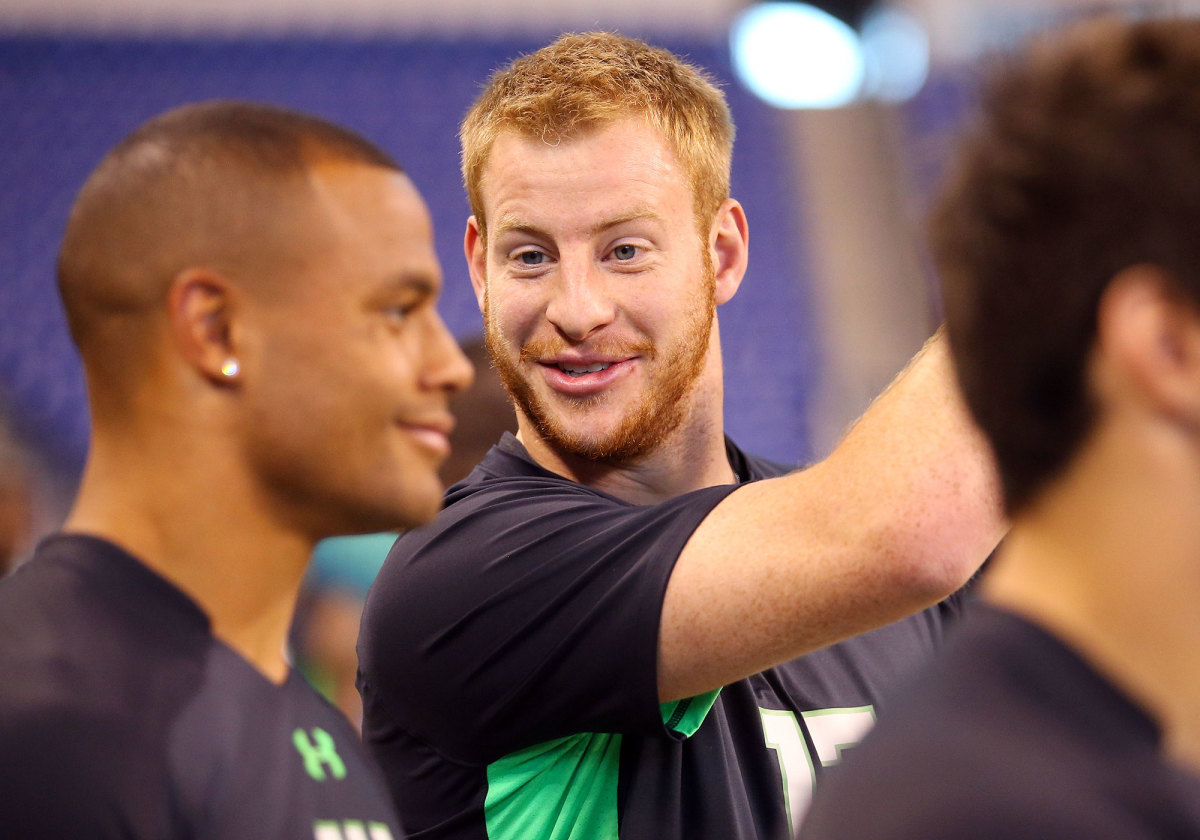 Wentz aced every test at the combine, a critical moment for the FCS star's national exposure.