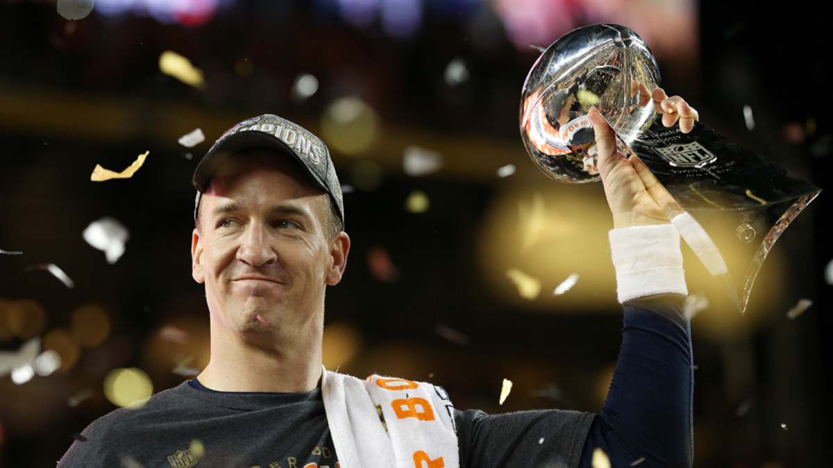 Peyton Manning led the Broncos to a Super Bowl win in his final game