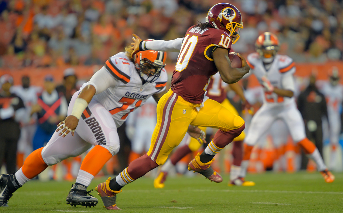 Robert Griffin III is heading to Cleveland, which still might use a high draft pick on a quarterback.