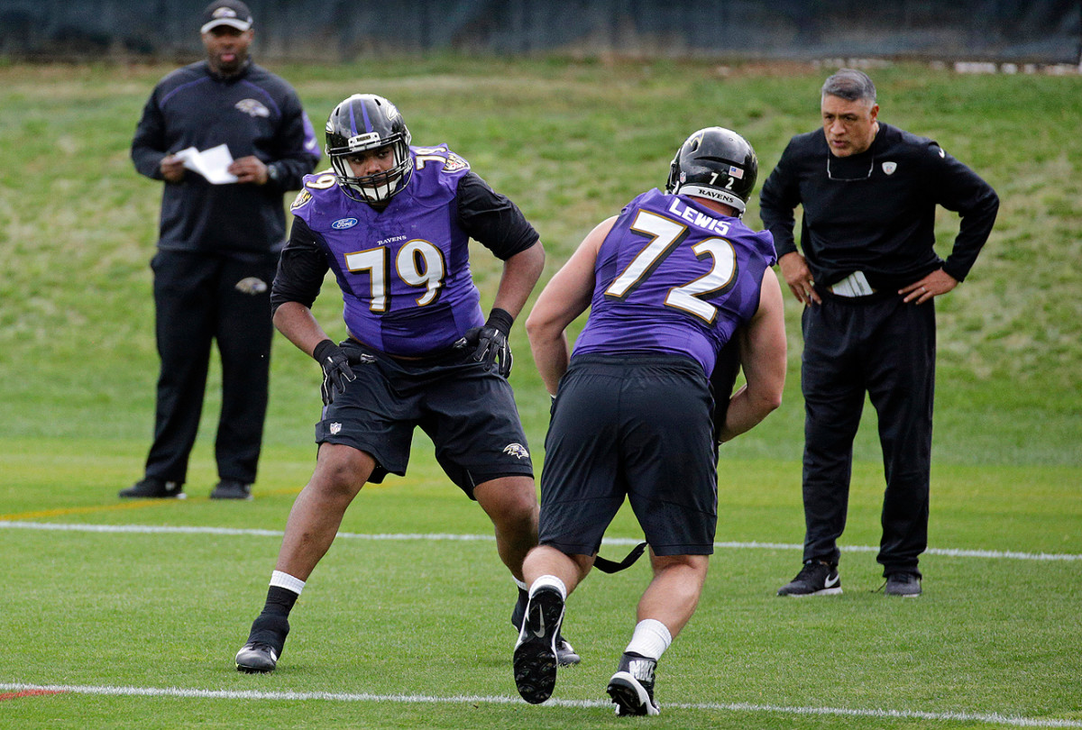 First-round pick Ronnie Stanley (79) will be pressed to play more physically when Ravens open training camp in July.