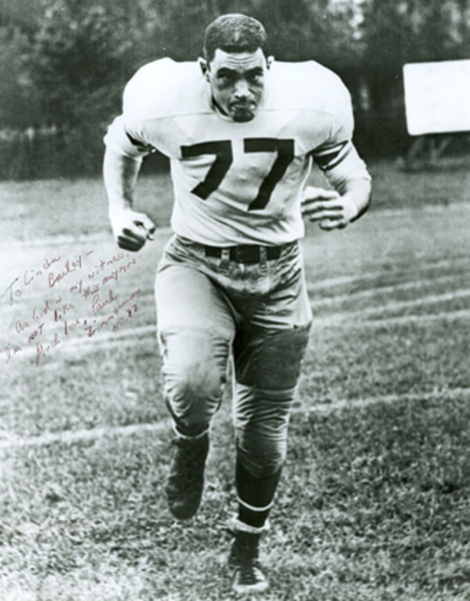 Paul Zimmerman as a Stanford football player.