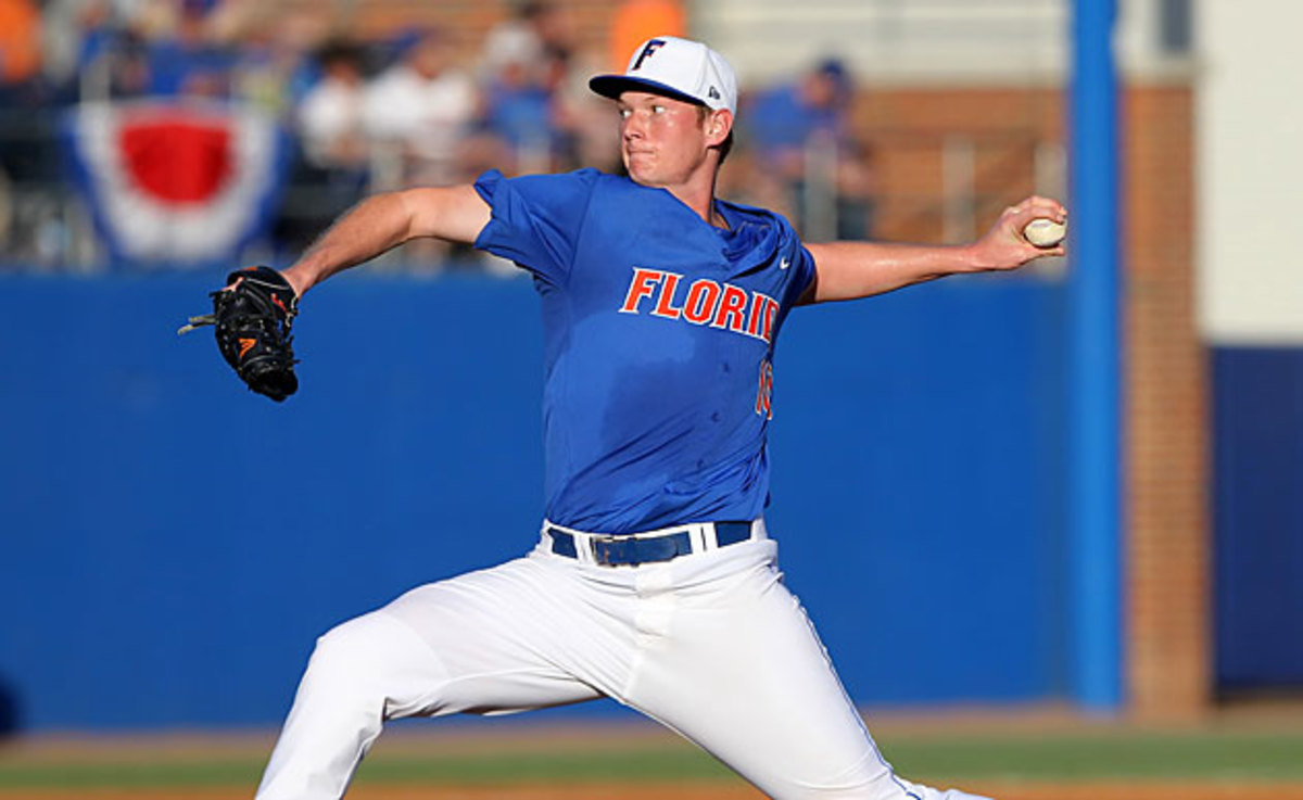 A.J. Puk is the ace of the top-ranked Florida Gators, who are seeking their first national title in baseball.