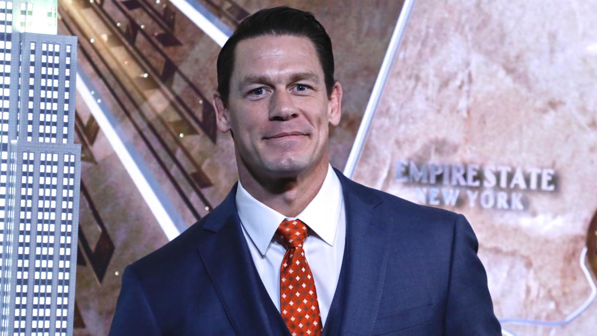 Actor/wrestler John Cena at a press event
