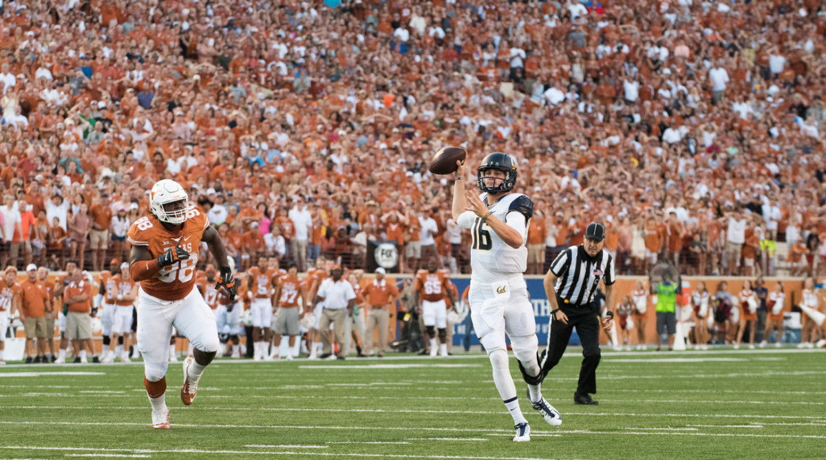 Goff threw for 268 yards (a season low) and three touchdowns in a win at Texas in September.