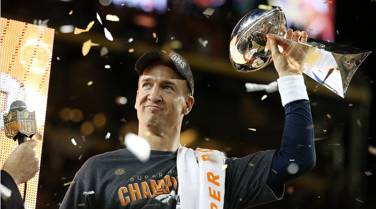 Manning is the first starting quarterback to win a Super Bowl with two different teams.
