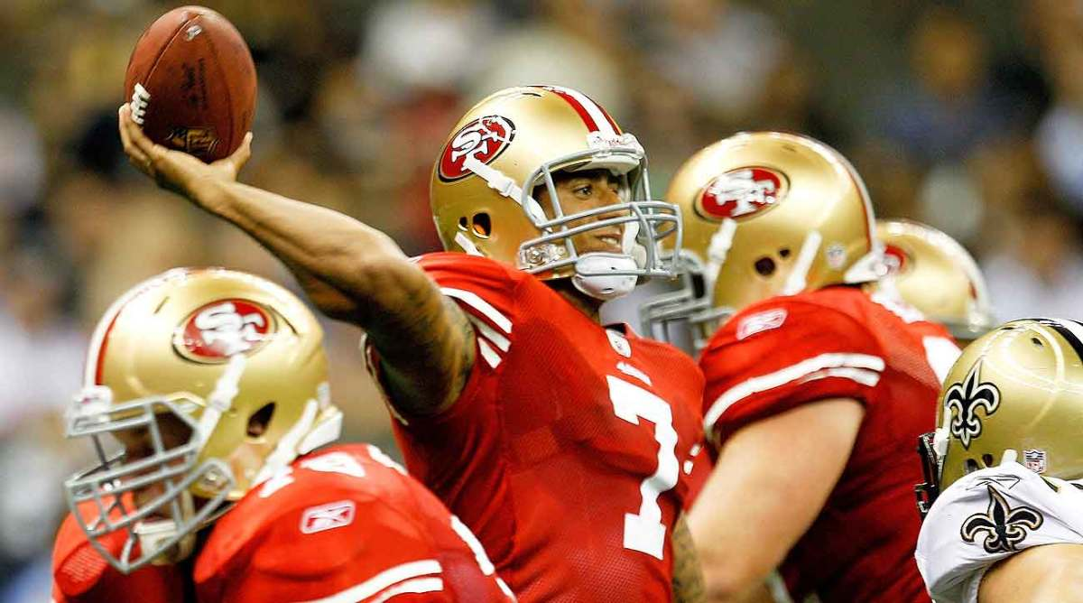 Staying patient in a crowded pocket has never been a strength for Colin Kaepernick.