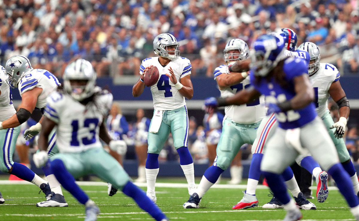 Dak's poise in the pocket was evident from Day One.