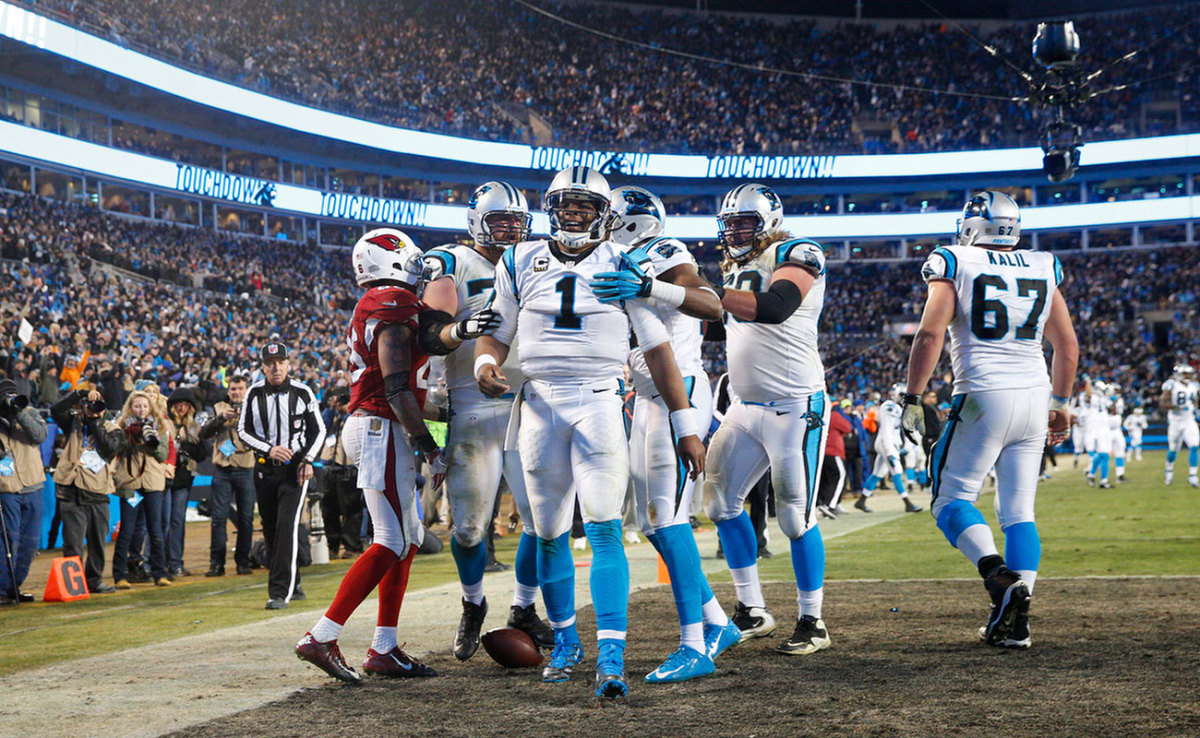 Cam Newton and the Panthers at the pinnacle in January.