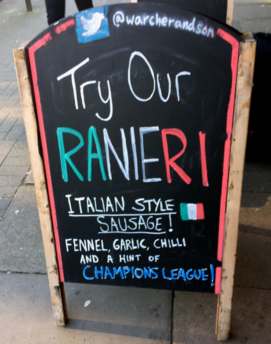 W Archer and Son butcher shop in Leicester is embracing the Foxes' run at the Premier League title