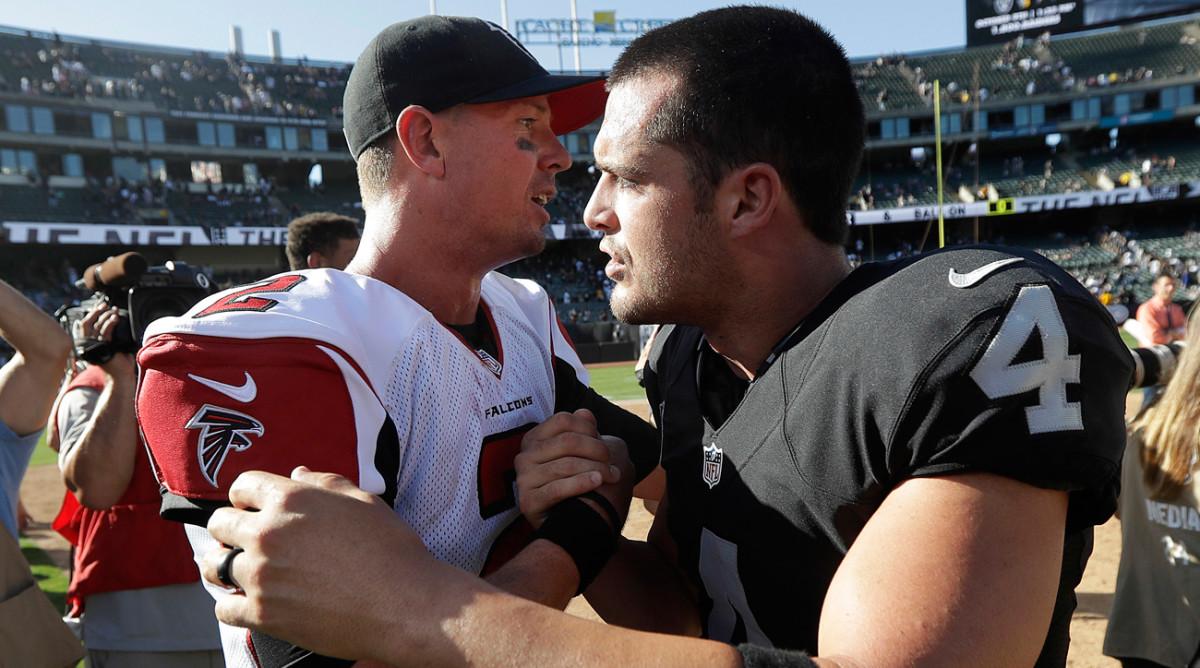 Matt Ryan got the better of Derek Carr in Week 2. Will the same hold true in the race for NFL MVP?