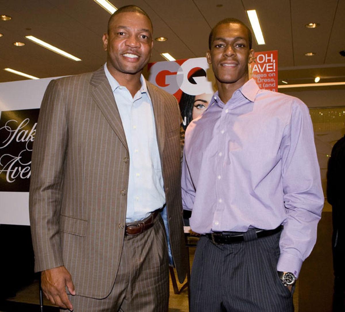 Doc Rivers and Rajon Rondo