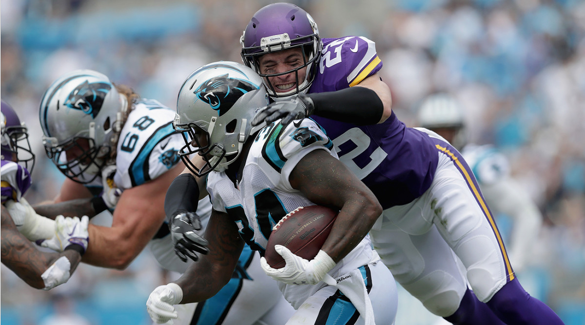 Harrison Smith and the Vikings defense clamped down on the Panthers, allowing just one touchdown.