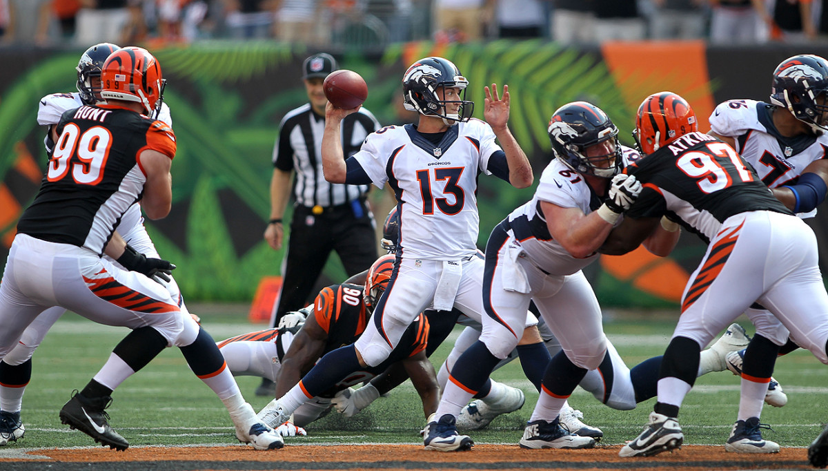 Trevor Siemian has a 67.0 completion percentage in his first three games as a starter.